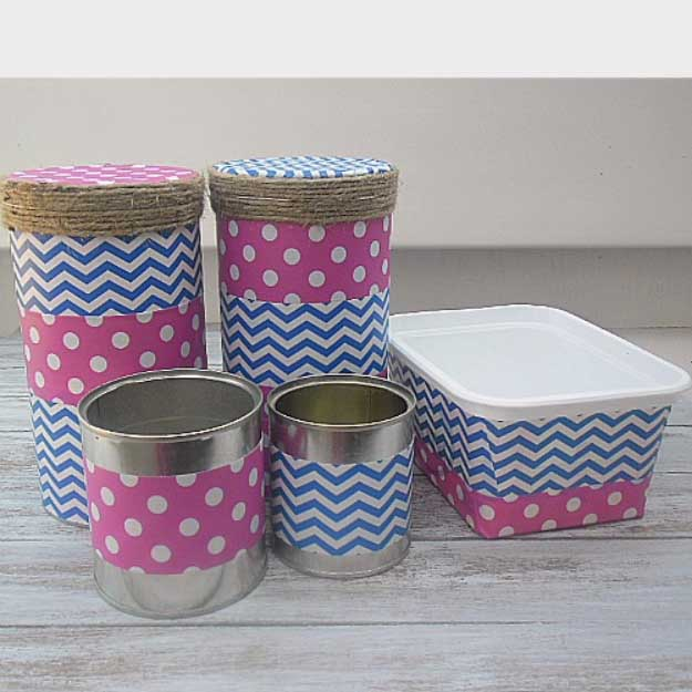 Duct Tape Crafts Ideas for DIY Home Decor, Fashion and Accessories | DIY Duct Tape Storage Drawers | DIY Projects for Teens | http://diyprojectsforteens.com/duct-tape-projects/