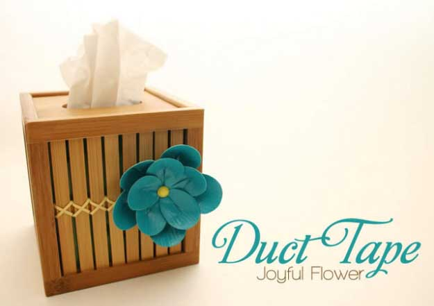 Duct Tape Crafts Ideas for DIY Home Decor, Fashion and Accessories | DIY Joyful Flower Duct Tape | DIY Projects for Teens | http://diyprojectsforteens.com/duct-tape-projects/