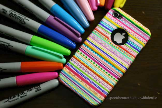 Cool DIY Ideas for Your iPhone iPad Tablets & Phones | Fun Projects for Chargers, Cases and Headphones | DIY: Tribal Print iPhone Case | http://diyprojectsforteens.com/diy-projects-iphone-ipad-phone/