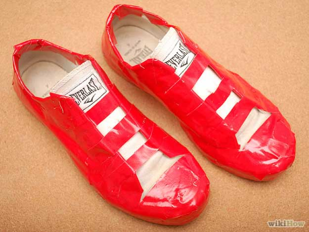 Duct Tape Crafts Ideas for DIY Home Decor, Fashion and Accessories | Duct Tape Shoes | DIY Projects for Teens #teencrafts #kidscrafts #ducttape #cheapcrafts /