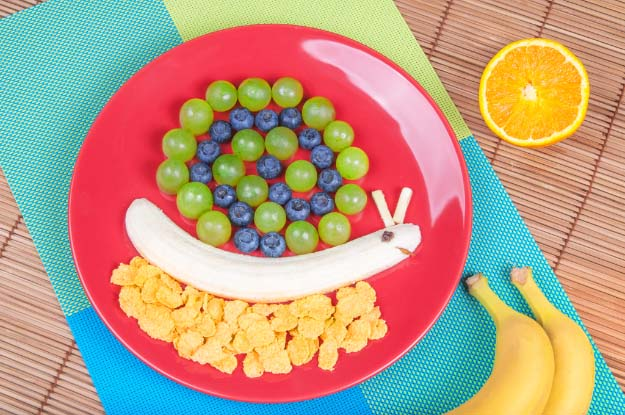 Fruit and Crereal Fun Snail Platter