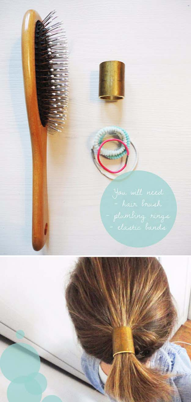 Fun DIY Jewelry Ideas | Cool Homemade Jewelry Tutorials for Adults and Teens | Awesome Bracelets, Necklaces, Earrings and Accessories You Can Make At Home | The Ponytail Cuff | http://diyprojectsforteens.com/fun-diy-jewelry-ideas-for-teens