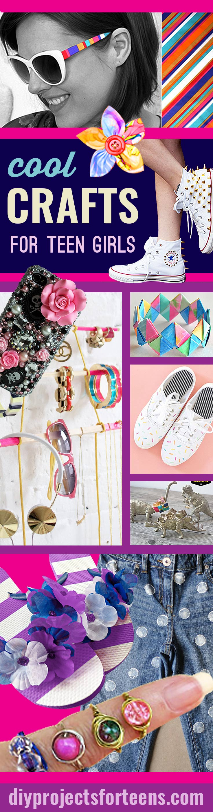 Cool Crafts For Teen Girls - Fun and Easy DIY Projects for the Creative Teen, Tween and Teenager. Girls love these crafty ideas for decor, gifts, fashion, jewelry and room decor. #teencrafts #coolcrafts #craftsforteens #cooldiy #crafts