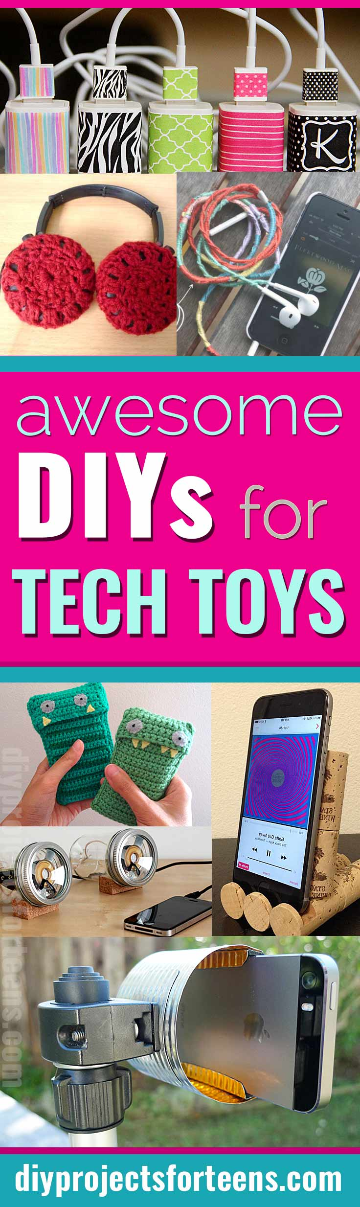 Cool DIY Ideas for Your iPhone iPad Tablets & Phones | Fun Projects for Chargers, Cases and Headphones - DIY Gadgets and iphone gear DIY