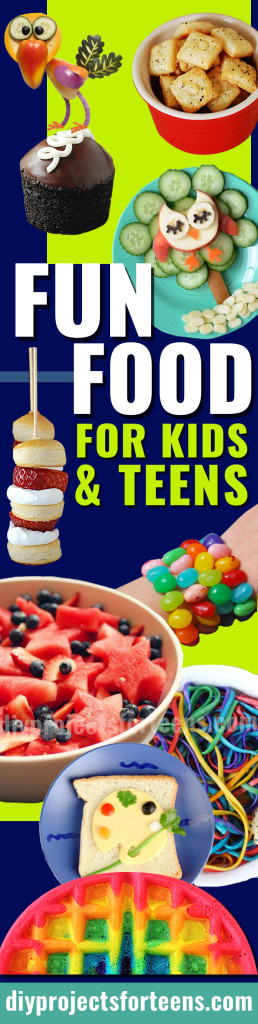 34 Fun Foods for Kids and Teens | Boys and Girls, Toddlers, Tweens and Teenagers all love these Easy Recipe Ideas - So Do Adults! http://diyprojectsforteens.com/fun-foods-for-teens-kids/