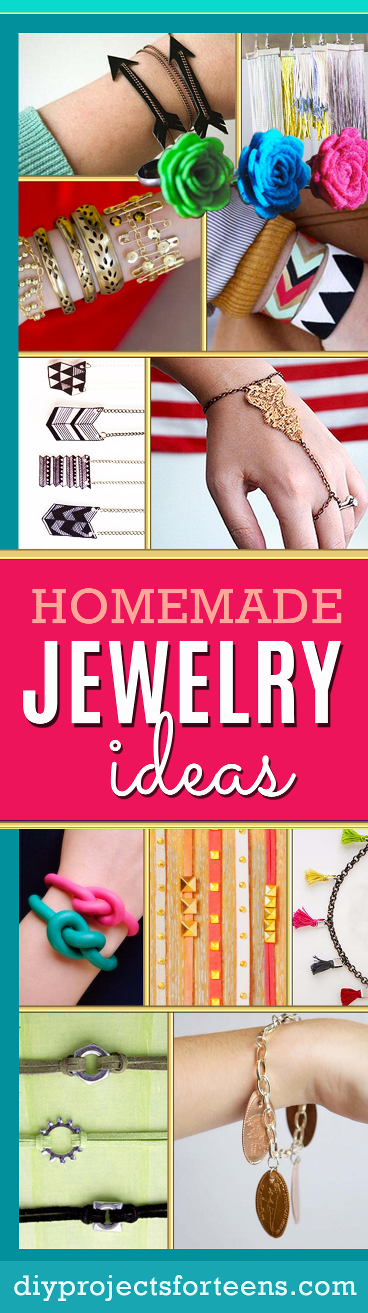 Fun DIY Jewelry Ideas | Cool Homemade Jewelry Tutorials for Adults and Teens | Awesome Bracelets, Necklaces, Earrings and Accessories You Can Make At Home http://diyprojectsforteens.com/fun-diy-jewelry-ideas-for-teens