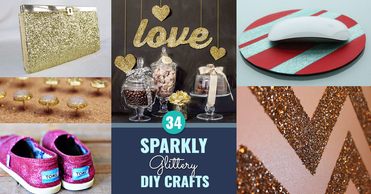 Cool DIY Crafts Made With Glitter - Sparkly, Creative Projects and Ideas for the Bedroom, Clothes, Shoes, Gifts, Wedding and Home Decor | http://stage.diyprojectsforteens.com/diy-projects-made-with-glitter/