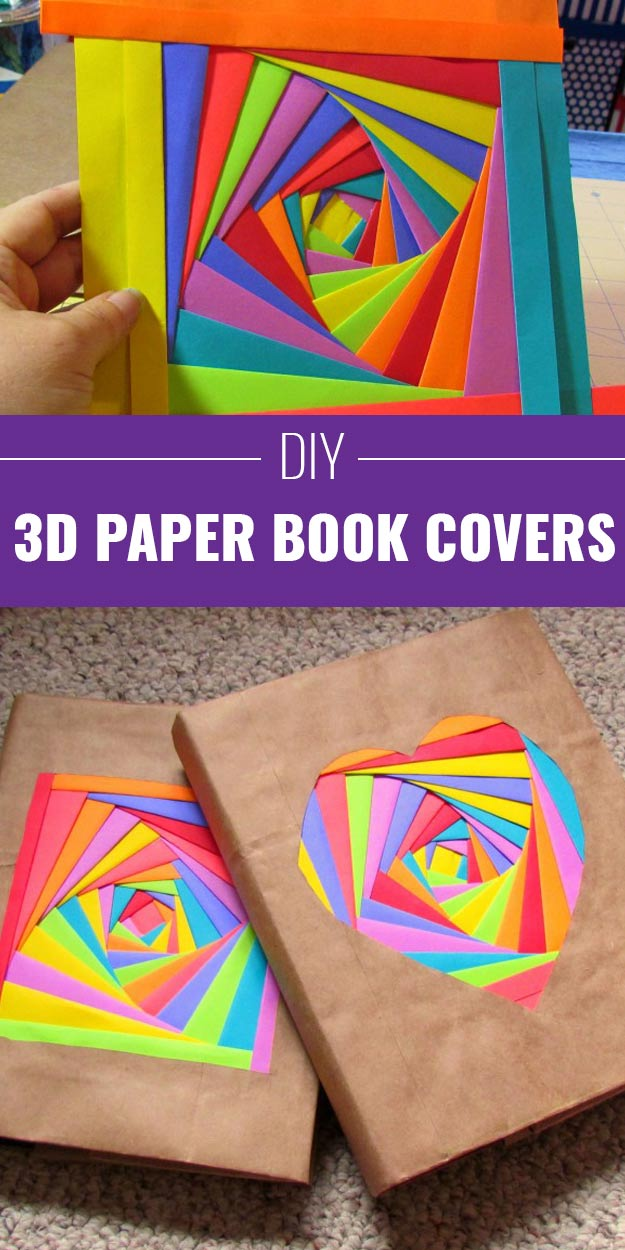 How To Make A Book Cover Out Of Construction Paper : Cool arts and crafts ideas for teens diy projects