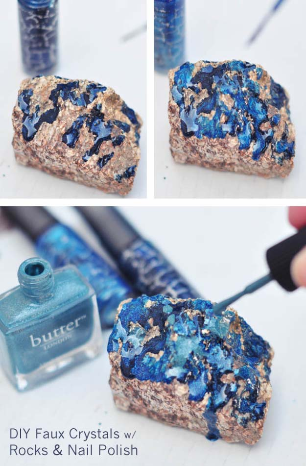 31 incredibly cool diy crafts using nail polish for Diy craft projects easy