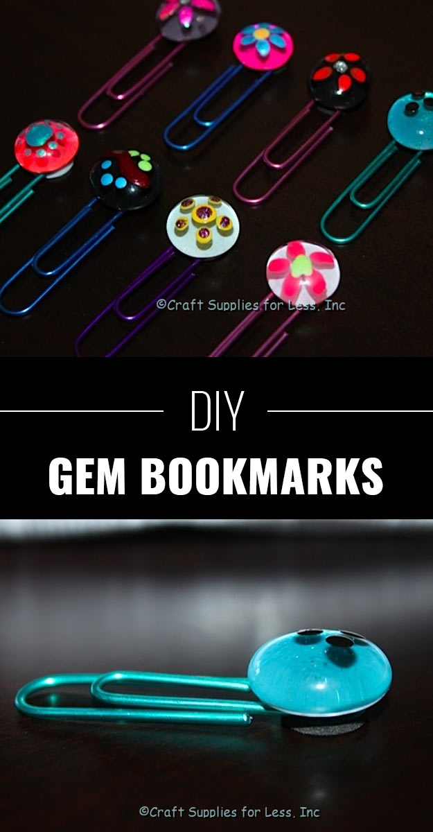 DIY Crafts Using Nail Polish - Fun, Cool, Easy and Cheap Craft Ideas for Girls, Teens, Tweens and Adults   DIY Gem Bookmarks