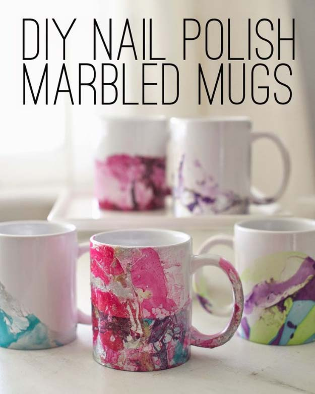 Diy Coffee Cup Design With Nail Polish