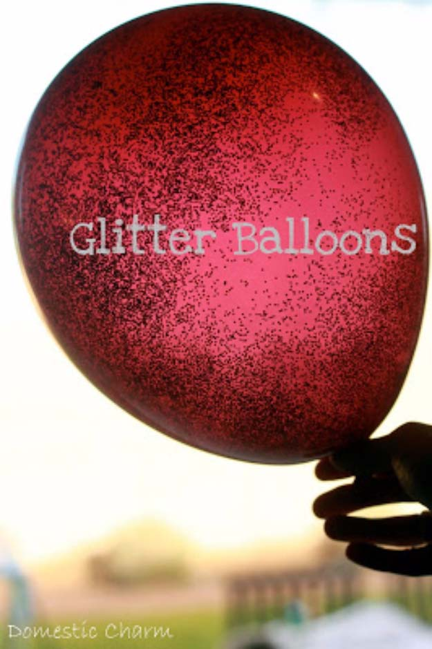 Cool DIY Crafts Made With Glitter - Sparkly, Creative Projects and Ideas for the Bedroom, Clothes, Shoes, Gifts, Wedding and Home Decor | Glitter Balloons #diyideas #glitter #crafts