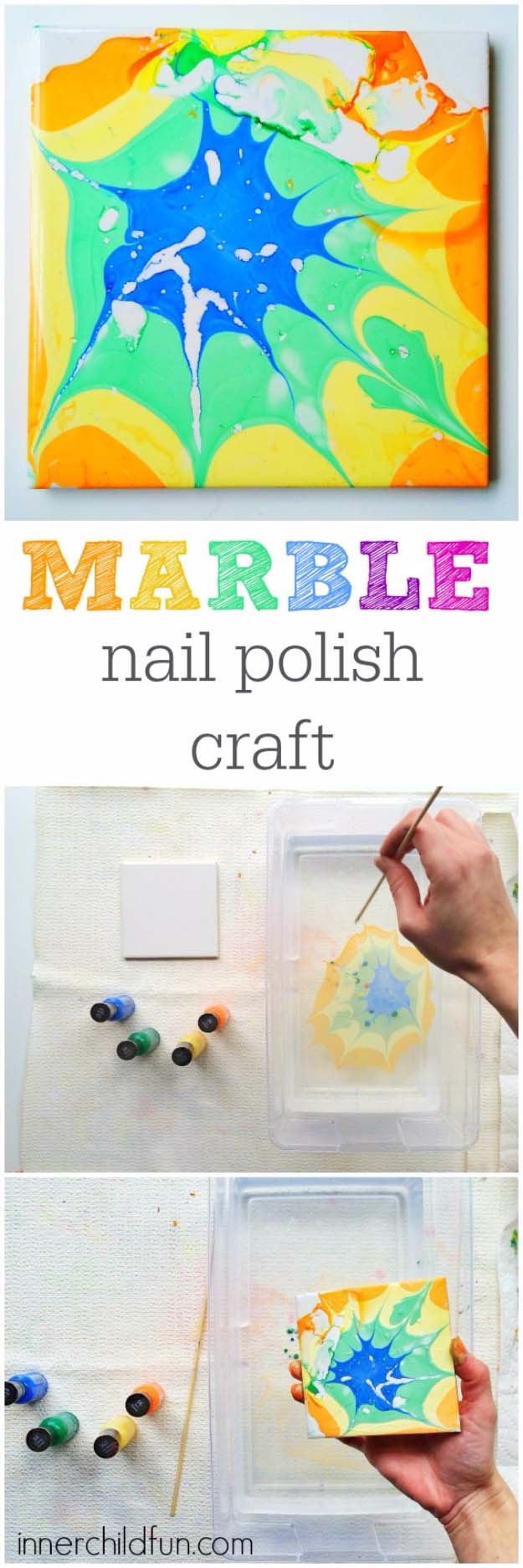 Marble Nail Polish Craft