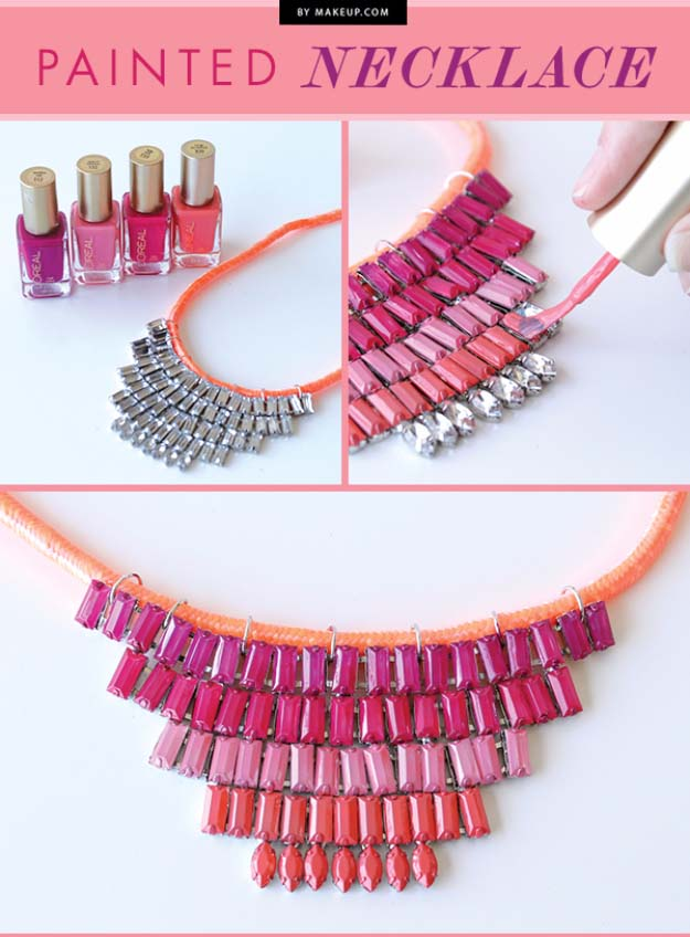 31 incredibly cool diy crafts using nail polish for Neat craft ideas