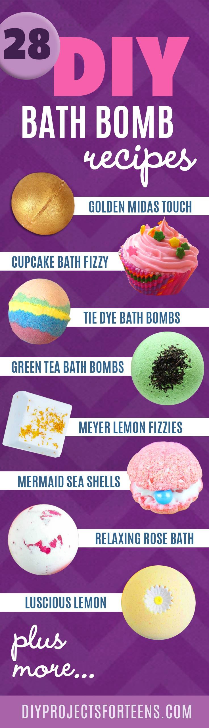 Homemade DIY Bath Bombs | Bath Bombs Tutorial Like Lush - Recipes for 28 Awesome Bathbombs | Pretty and Cheap DIY Gifts | DIY Projects and Crafts by DIY JOY