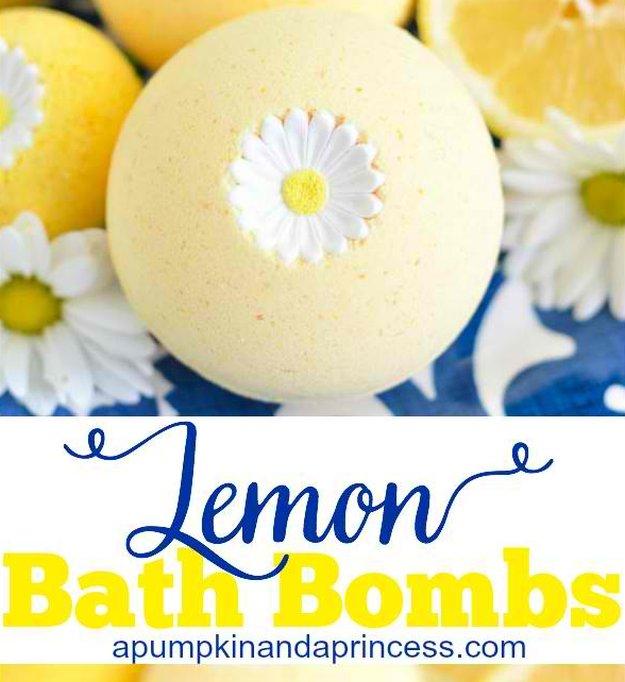 Homemade DIY Bath Bombs | Lemon Bath Bombs Tutorial Like Lush | Pretty and Cheap DIY Gifts | DIY Projects and Crafts by DIY JOY