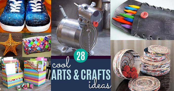 Cool Arts and Crafts Ideas for Adults, Teens and Kids | Creative Art Ideas for School, Decor, Wall Art and Gifts