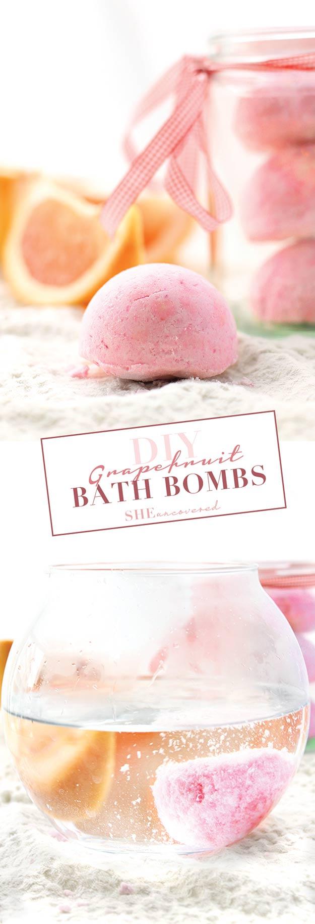 Best DIY Ideas from Pinterest | Homemade Bath Bomb Recipes and Tutorials | Make Grapefruit Bath Bombs at Home Like Lush