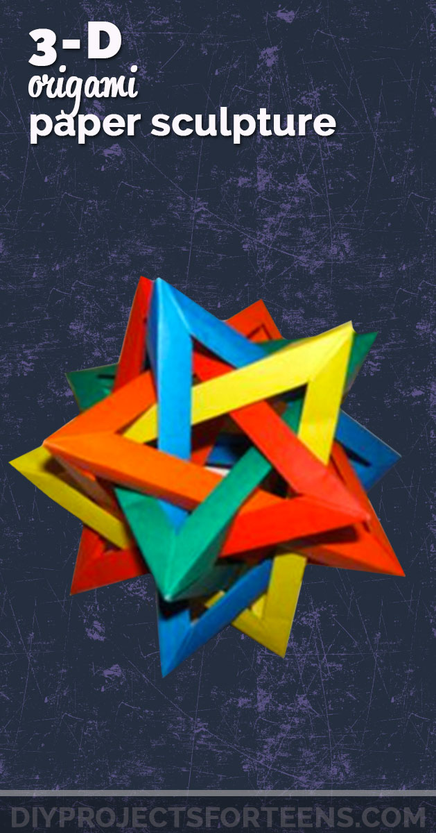 Cool Crafts for Teens Boys and Girls - 3 D Origami Paper Sculpture - Creative, Awesome Teen DIY Projects and Fun Creative Crafts for Tweens