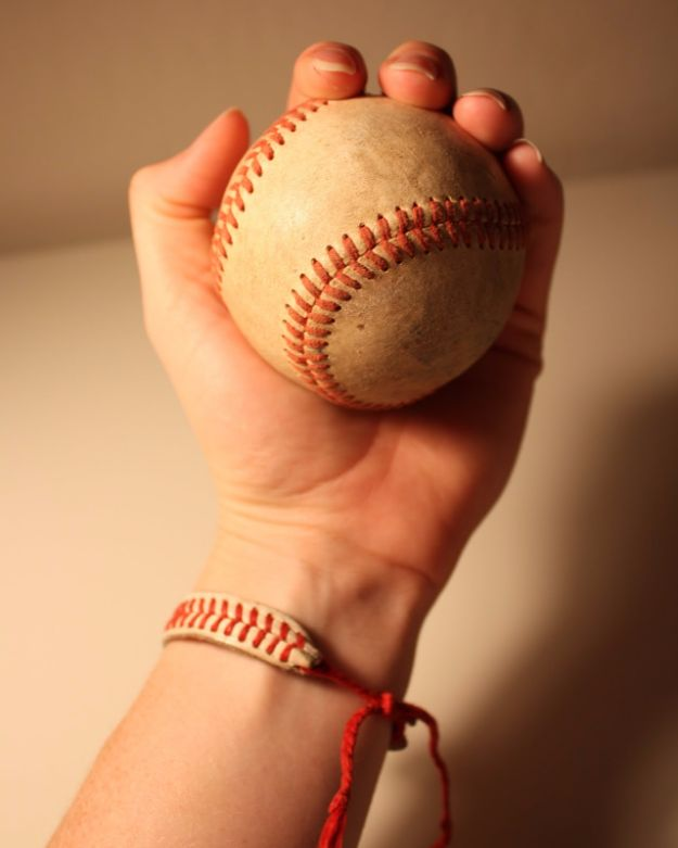 Cool DIY Crafts for Teens - Baseball Bracelet - Boys and Girls Love These Cool DIY Projects and Crafts Ideas - Fun Decor and Awesome Stuff To Make