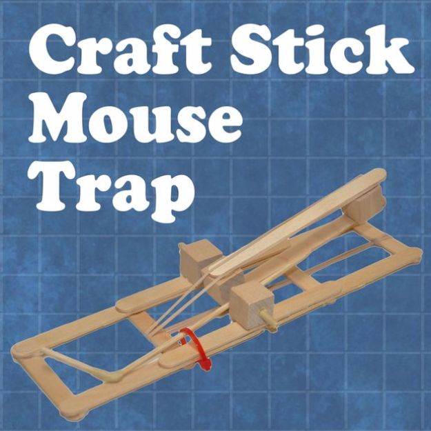 DIY Craft Stick Mousetrap - Cool DIY Projects for Teen Boys and Girls - Fun Step by Step Video Tutorial and Instructions