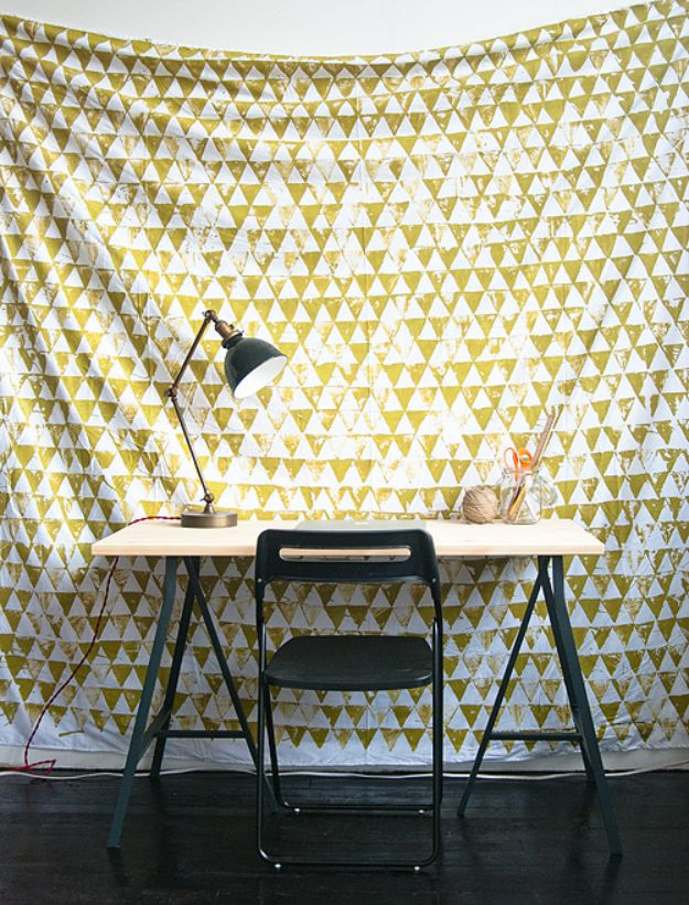 diy teen room decor ideas for girls diy geometric wall hanging cool bedroom decor - Diy Bedroom Decorating
