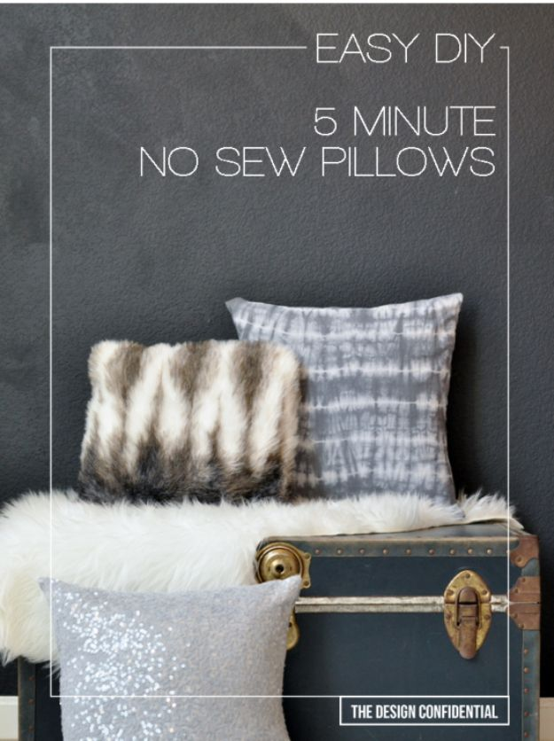 DIY Teen Room Decor Ideas For Girls | Easy No Sew 5 Minute DIY Pillows |