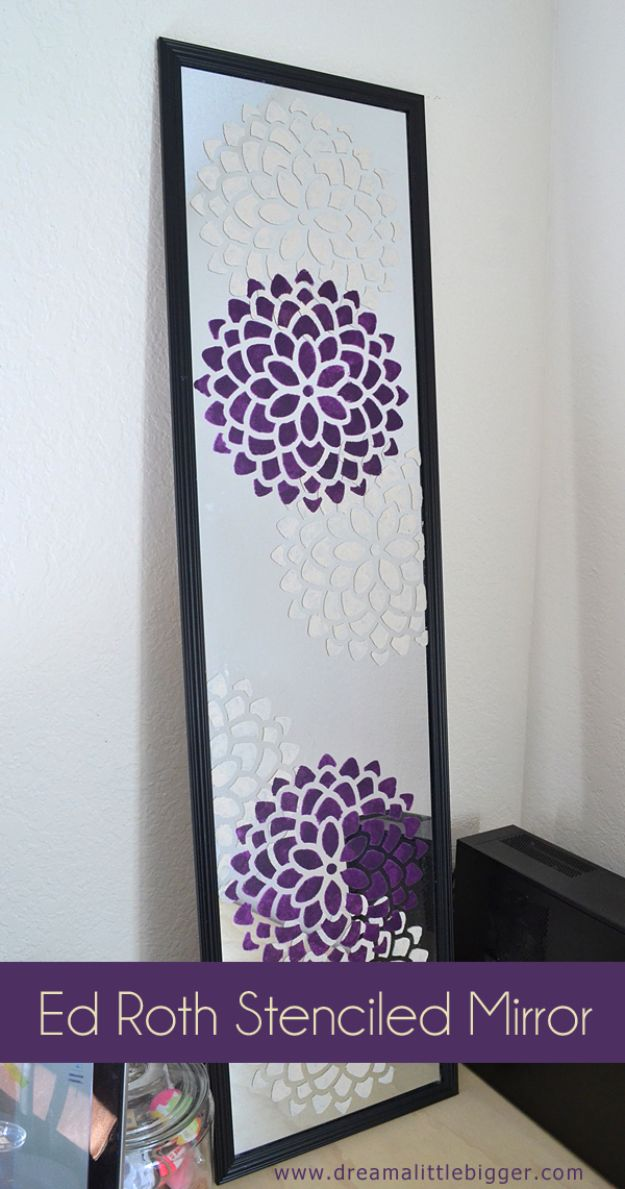 diy teen room decor ideas for girls ed roth stenciled mirror tutorial cool bedroom - Teen Wall Decor