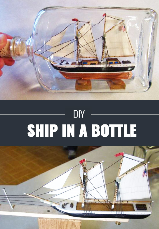 Cool DIY Crafts for Teens - Ship In A Bottle DIY - Boys and Girls Love These Cool DIY Projects and Crafts Ideas - Fun Decor and Awesome Stuff To Make