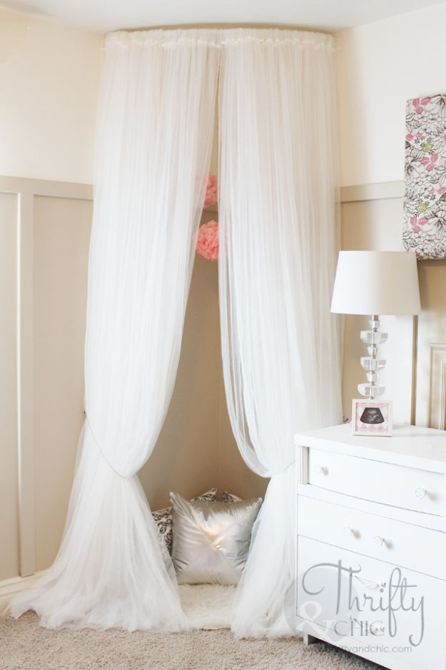 DIY Teen Room Decor Ideas for Girls | Whimsical Canopy Tent Reading Nook | Cool Bedroom Decor, Wall Art & Signs, Crafts, Bedding, Fun Do It Yourself Projects and Room Ideas for Small Spaces #diydecor #teendecor #roomdecor #teens #girlsroom