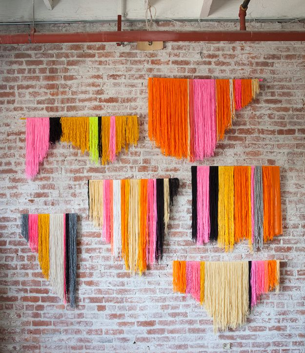 diy teen room decor ideas for girls yarn banner diy cool bedroom decor - Diy Decor