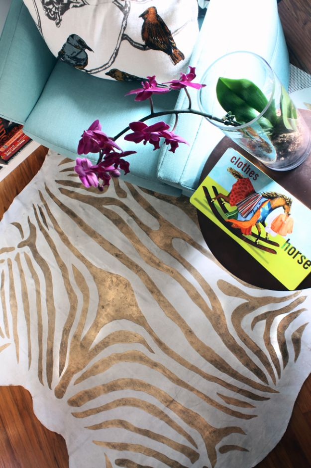 DIY Teen Room Decor Ideas for Girls | Zebra Rug | Cool Bedroom Decor, Wall Art & Signs, Crafts, Bedding, Fun Do It Yourself Projects and Room Ideas for Small Spaces #diydecor #teendecor #roomdecor #teens #girlsroom