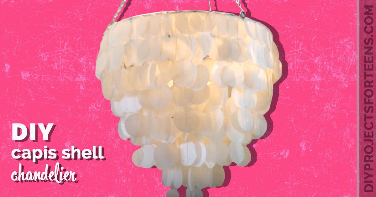 Diy Capiz Shell Chandelier