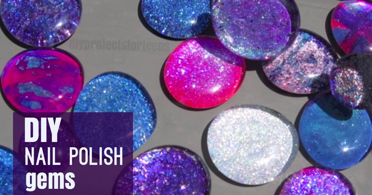 DIY Nail Polish Gems For Jewelry| Cool Crafts For Teens and Tweens