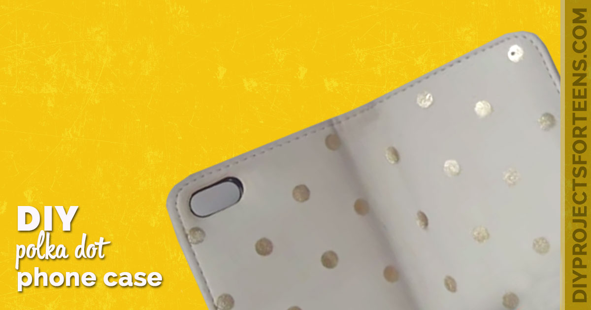 DIY Polka Dot Phone Case - Cool Nail Polish Crafts - DIY Projects for Teens