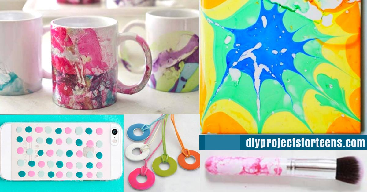 incredibly cool diy crafts using nail polish diy projects for teens