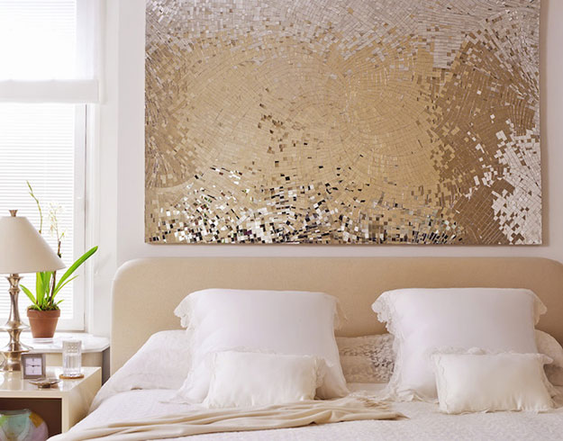 diy teen room decor ideas for girls sequin wall art decor cool bedroom decor - Diy Wall Decor Ideas For Bedroom