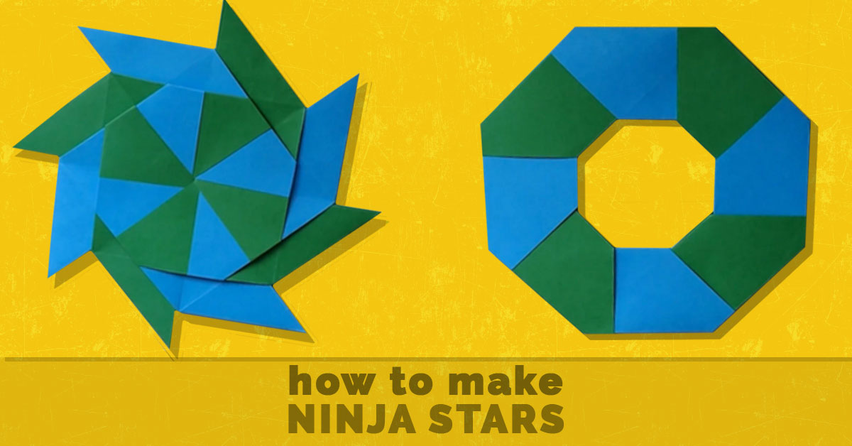 How to make a throwing star out of paper