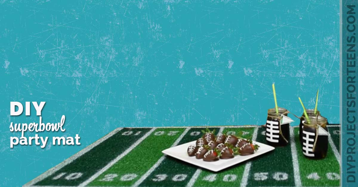 Fun Superbowl Party Decor Ideas - Make A Football Field Party Mat