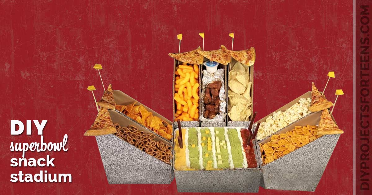Fun Superbowl Snack Ideas - DIY Snack Stadium DIY Projects for Teens