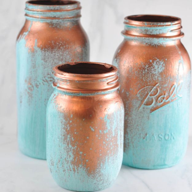 Cute DIY Mason Jar Ideas - Aged Glass Mason Jar Project - Fun Crafts, Creative Room Decor, Homemade Gifts, Creative Home Decor Projects and DIY Mason Jar Lights - Cool Crafts for Teens and Tween Girls #diyideas #masonjarcrafts #teencrafts