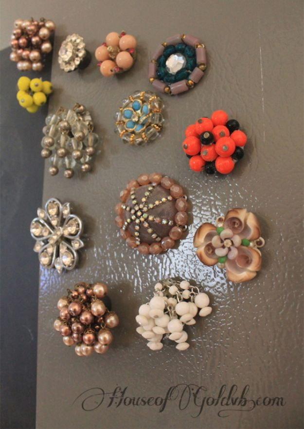 Anthropologie DIY Hacks, Clothes, Sewing Projects and Jewelry Fashion - Pillows, Bedding and Curtains - Tables and furniture - Mugs and Kitchen Decorations - DIY Room Decor and Cool Ideas for the Home | Anthropologie Knock-Off Magnets | http://diyprojectsforteens.com/diy-anthropologie-hacks