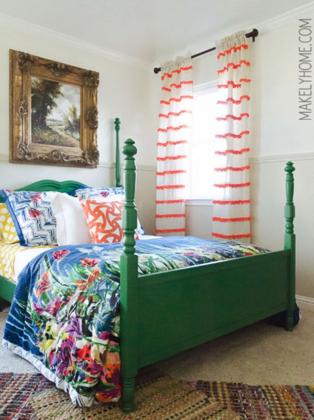 Anthropologie DIY Hacks, Clothes, Sewing Projects and Jewelry Fashion - Pillows, Bedding and Curtains - Tables and furniture - Mugs and Kitchen Decorations - DIY Room Decor and Cool Ideas for the Home | Anthropologie Swing Stripe Curtains Knockoff | http://diyprojectsforteens.com/diy-anthropologie-hacks