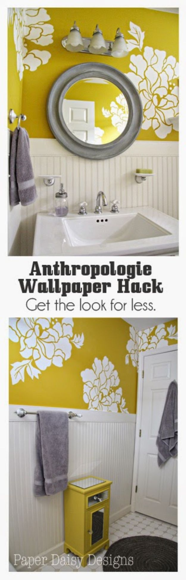 Anthropologie DIY Hacks, Clothes, Sewing Projects and Jewelry Fashion - Pillows, Bedding and Curtains - Tables and furniture - Mugs and Kitchen Decorations - DIY Room Decor and Cool Ideas for the Home | Anthropologie Wallpaper Hack