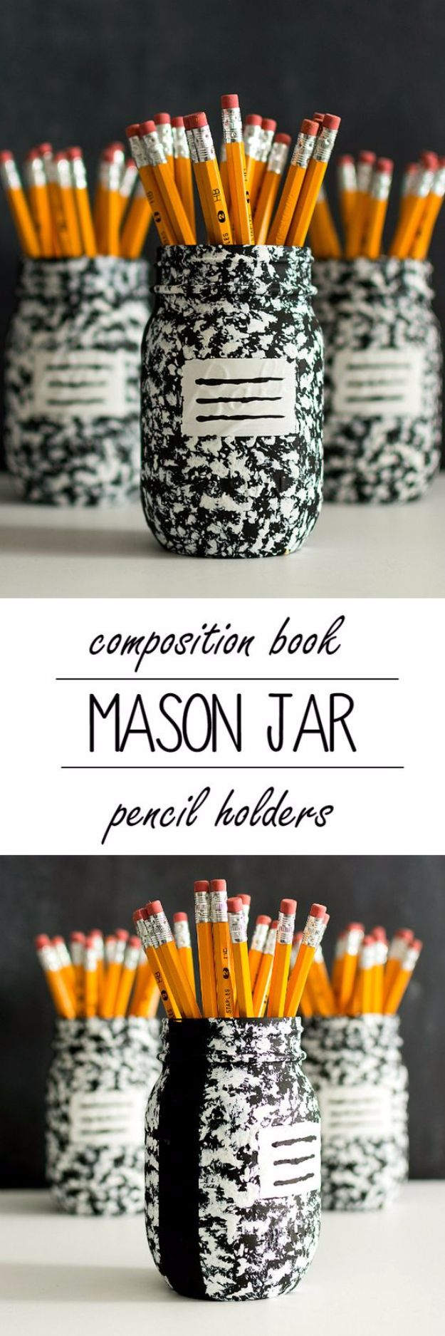 Cute DIY Mason Jar Ideas - Composition Book Mason Jar - Fun Crafts, Creative Room Decor, Homemade Gifts, Creative Home Decor Projects and DIY Mason Jar Lights - Cool Crafts for Teens and Tween Girls #diyideas #masonjarcrafts #teencrafts