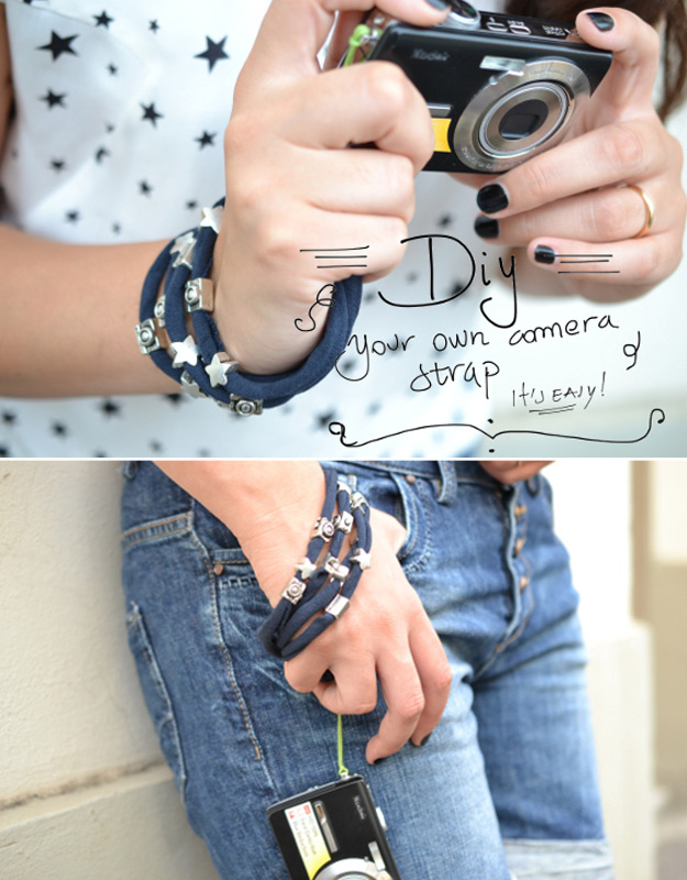 Cool DIY Ideas for Fun and Easy Crafts - DIY Camera Strap Makes a Cheap DIY Gift Idea - DIY Moon Pendant for Easy DIY Lighting in Teens Rooms - Dip Dyed String Wall Hanging - DIY Mini Easel Makes Fun DIY Room Decor Idea - Awesome Pinterest DIYs that Are Not Impossible To Make - Creative Do It Yourself Craft Projects for Adults, Teens and Tweens #diyteens #teencrafts #funcrafts #fundiy #diyideas
