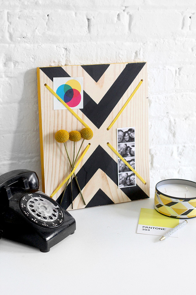 Cool DIY Ideas for Fun and Easy Crafts - DIY Graphic Print Memo Board is a Cool Modern DIY Home Decor Idea - DIY Moon Pendant for Easy DIY Lighting in Teens Rooms - Dip Dyed String Wall Hanging - DIY Mini Easel Makes Fun DIY Room Decor Idea - Awesome Pinterest DIYs that Are Not Impossible To Make - Creative Do It Yourself Craft Projects for Adults, Teens and Tweens #diyteens #teencrafts #funcrafts #fundiy #diyideas