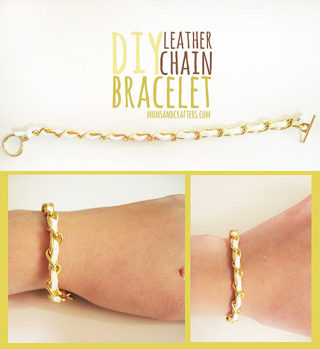 Cool DIY Ideas for Fun and Easy Crafts - DIY Leather Chain Bracelet for Fun DIY Jewelry - Awesome Pinterest DIYs that Are Not Impossible To Make - Creative Do It Yourself Craft Projects for Adults, Teens and Tweens. http://diyprojectsforteens.com/fun-crafts-pinterest