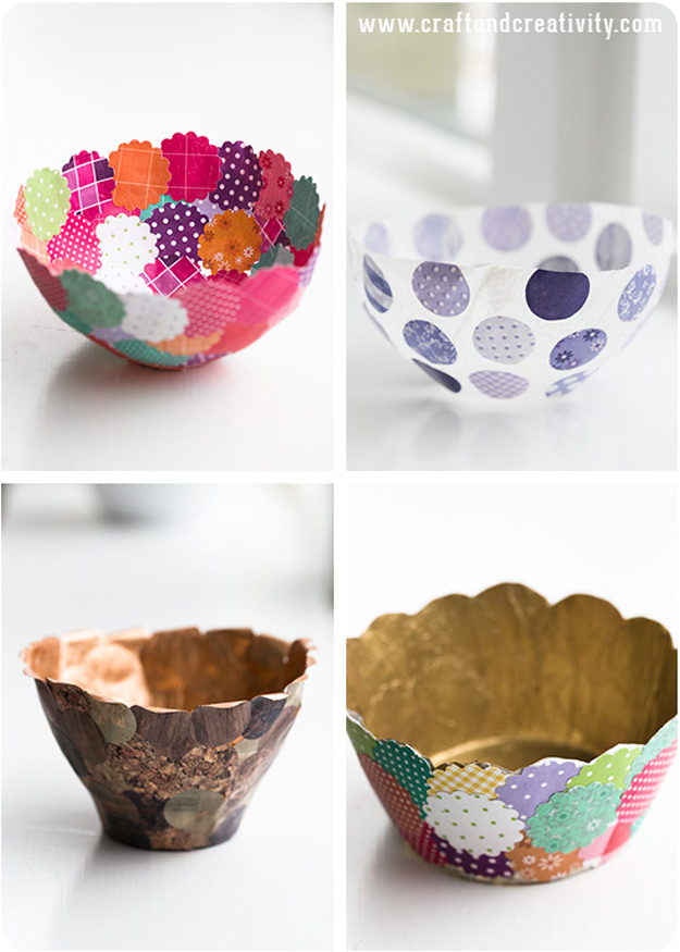 and easy crafts diy paper bowls make easy and cheap home decor ideas