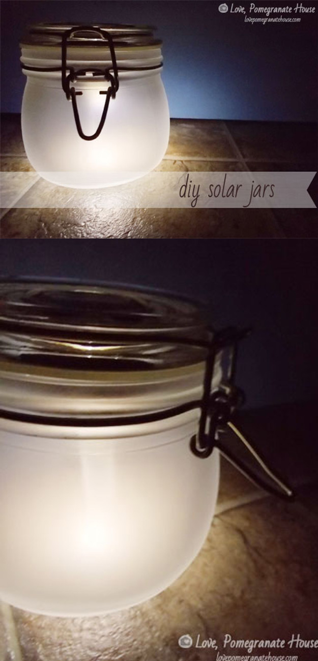 Cute DIY Mason Jar Ideas - DIY Solar -Jars - Fun Crafts, Creative Room Decor, Homemade Gifts, Creative Home Decor Projects and DIY Mason Jar Lights - Cool Crafts for Teens and Tween Girls http://diyprojectsforteens.com/cute-diy-mason-jar-crafts